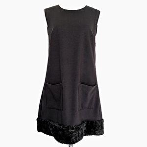 Rachel Roy Black Sleeveless A-Line Mini Dress